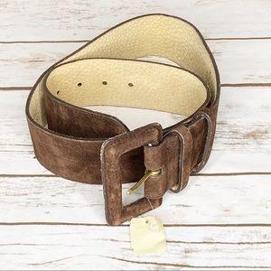 Express Brown Suede Leather Belt Medium USA